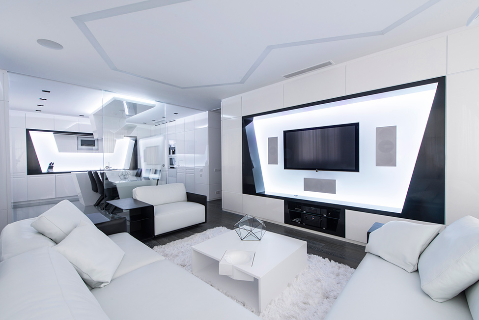 Axioma, apartament in alb si negru in moscova
