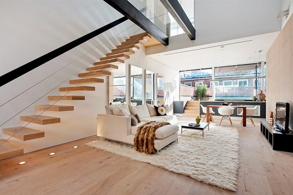 Duplex cu stil in New York