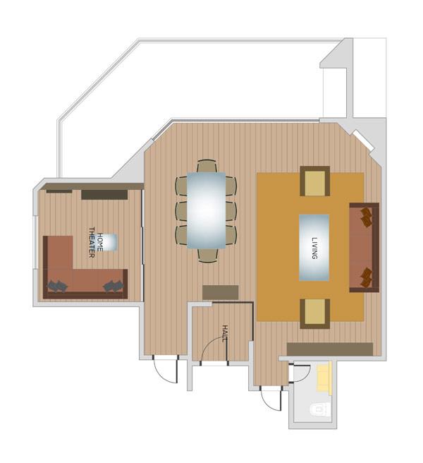 schita apartament simplu in sao paolo